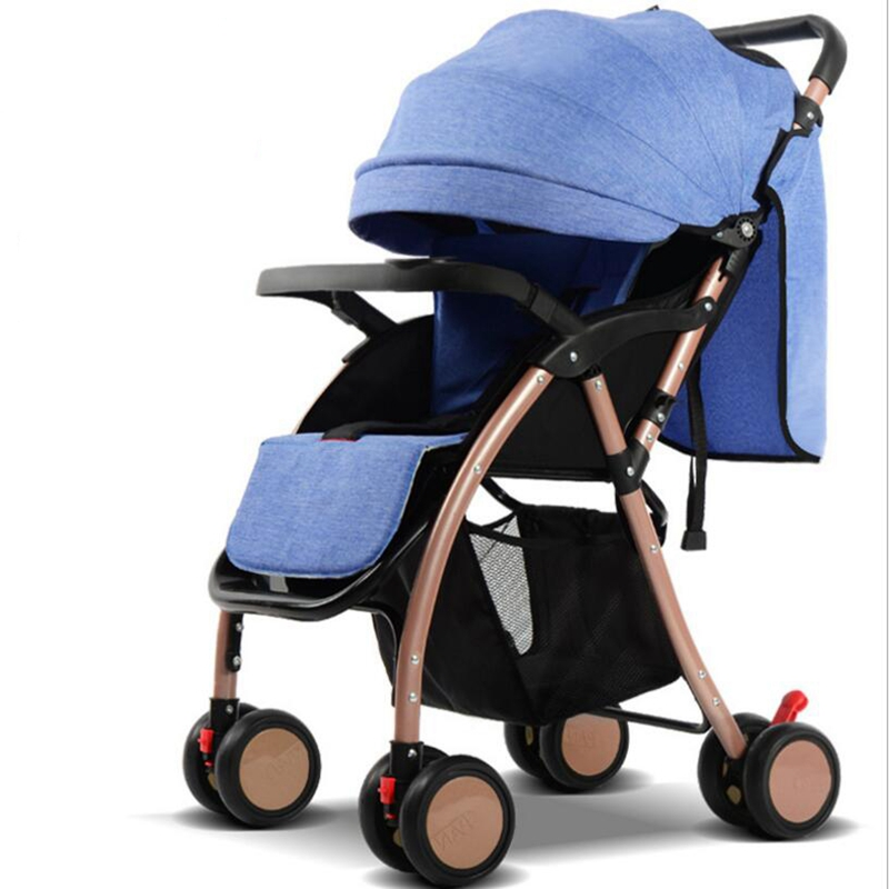 High landscape can sit reclining lightweight folding shelter child children four-wheeled baby trolley free shipping