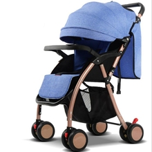 ФОТО high landscape can sit reclining lightweight folding shelter child children four-wheeled baby trolley free shipping