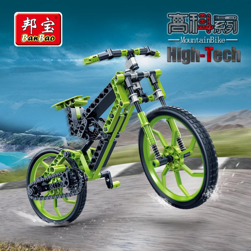 BanBao High Tech Educational Building Stacking Blocks Toy For Children Gifts Bicycle Compatible Legoe