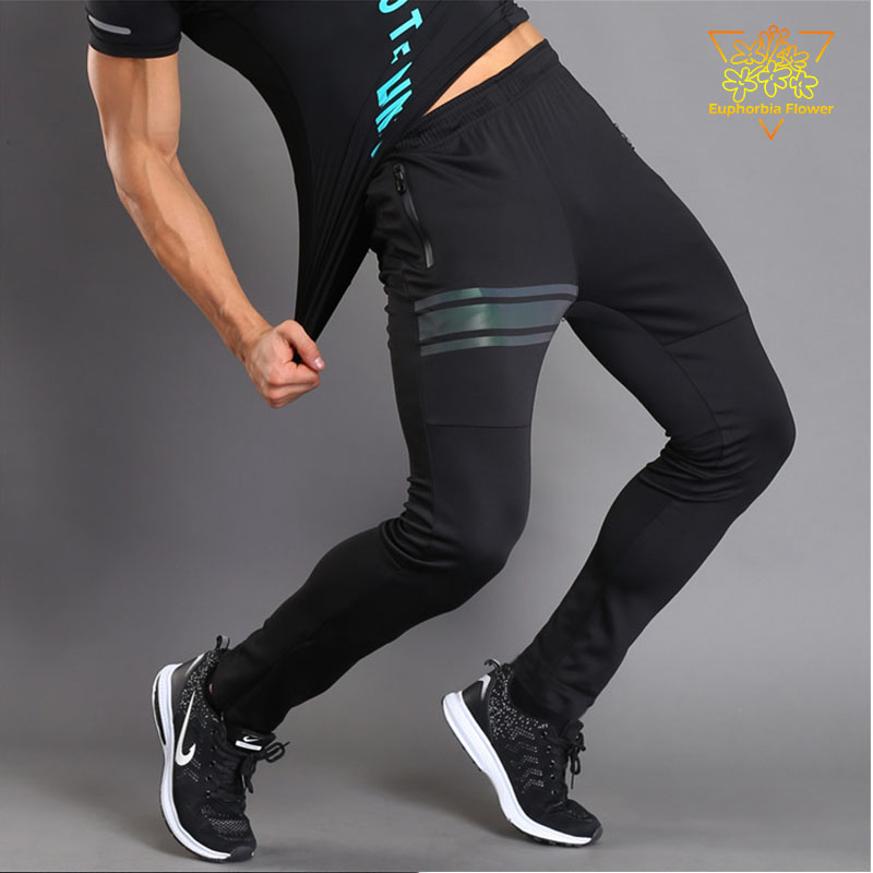 JSN203 Sportovní kalhoty Pánské běžící dva kapsy na zip s - Sportovní oblečení a doplňky
