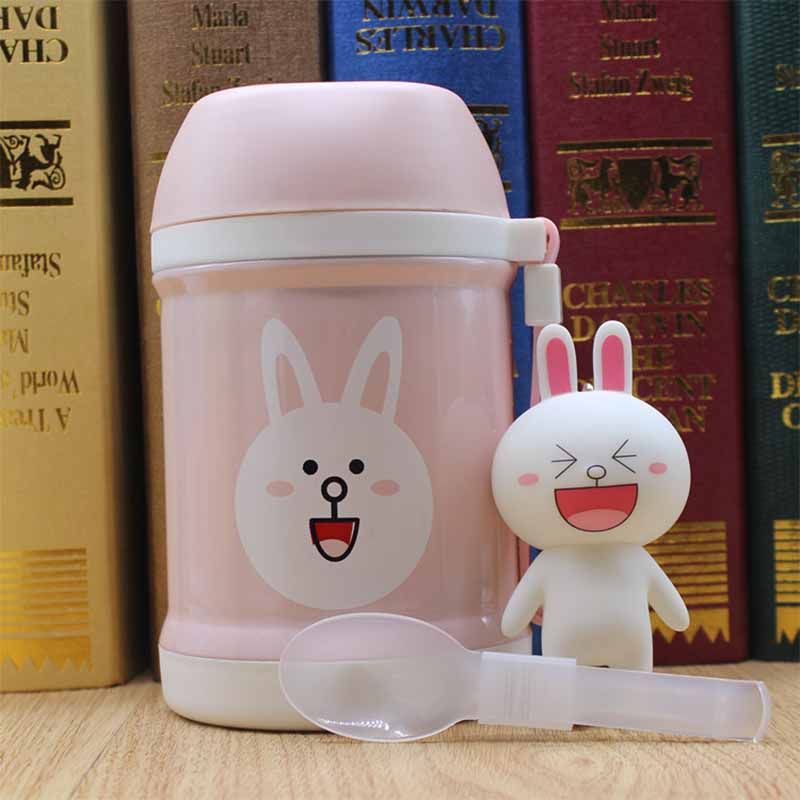 YIHAO 400ML High Quality Hot Sale Children Cartoon Boring Pot Portable Soup Pot Vacuum Flasks Belly Cup Insulation Water Bottle
