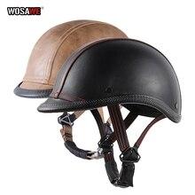Motorcycle Motorbike Rider Half Retro Vintage Chopper Biker Head protector Skull Cap
