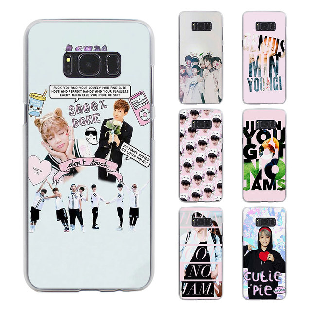 quality design b4784 9e450 US $1.97 34% OFF|BTS bangtan boys Jimin style transparent phone shell Case  for Samsung Galaxy S8 S8 Plus note 5 4 S6 S7 edge-in Half-wrapped Case from  ...