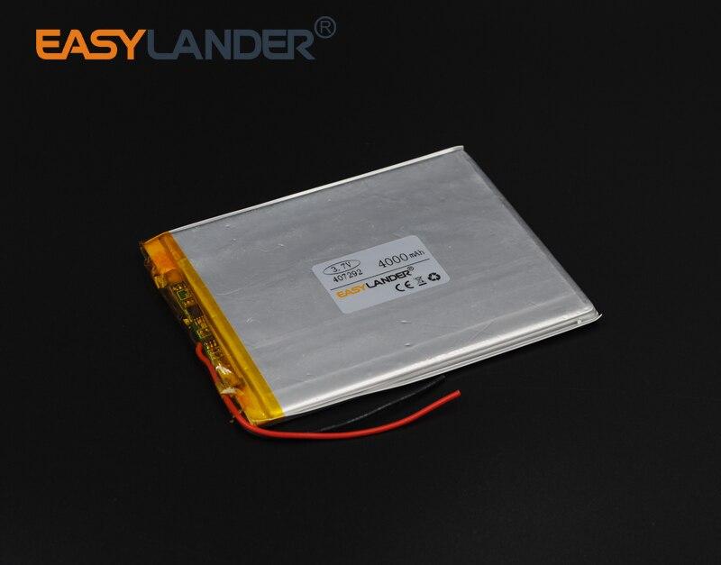 407292 3.7 V 4000 mAh batería Del Polímero de Li-ion Para Portátiles Bluetooth B
