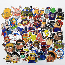 HOT sales 100PCS JDM car styling funny cool sticker bomb waterproof graffiti Doodle sticker skateboard decal