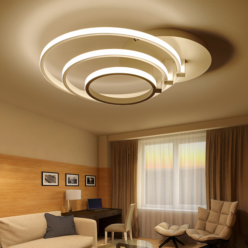 Modern Led Ceiling Chandelier Lights For Living Room Bedroom Home Decor Lighting Chandeliers aluminum white lamparas de techo new modern led ceiling lights for living room bedroom plafon home lighting combination white and black home deco ceiling lamp