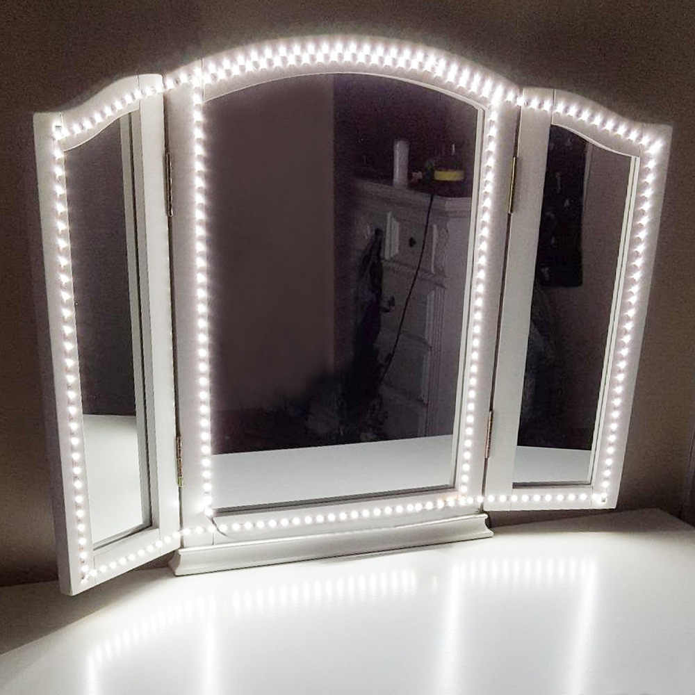 300 LEDs Makeup Mirror Vanity Mirror Light with Dimmer Power Supply For Dressing Table With Manual Makeup Mirror Lights