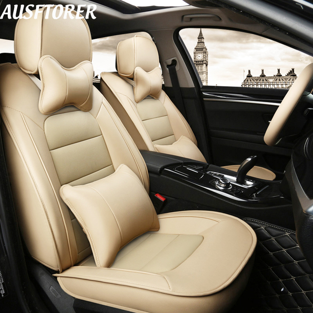 Ausftorer Custom Genuine Leather Car Seat Cover For Infiniti Qx60 Covers Cars Cowhide 7 Seats
