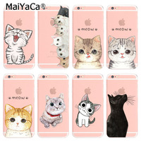 MaiYaCa phone case for iphone 6 6s case cute cats animal Silicone case cover For iPhone 6 6s Case phone bags