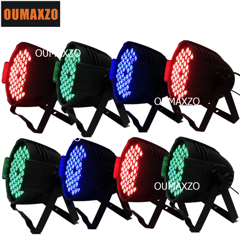 8pcs/lot RGB 3in1 3w * 54pcs LED Plastic Par Light Can Light Par For Birthday/Wedding/Dance Party 54pcs RGB 3in1 led par light eurolite led par 64 rgb 36x3w short silver