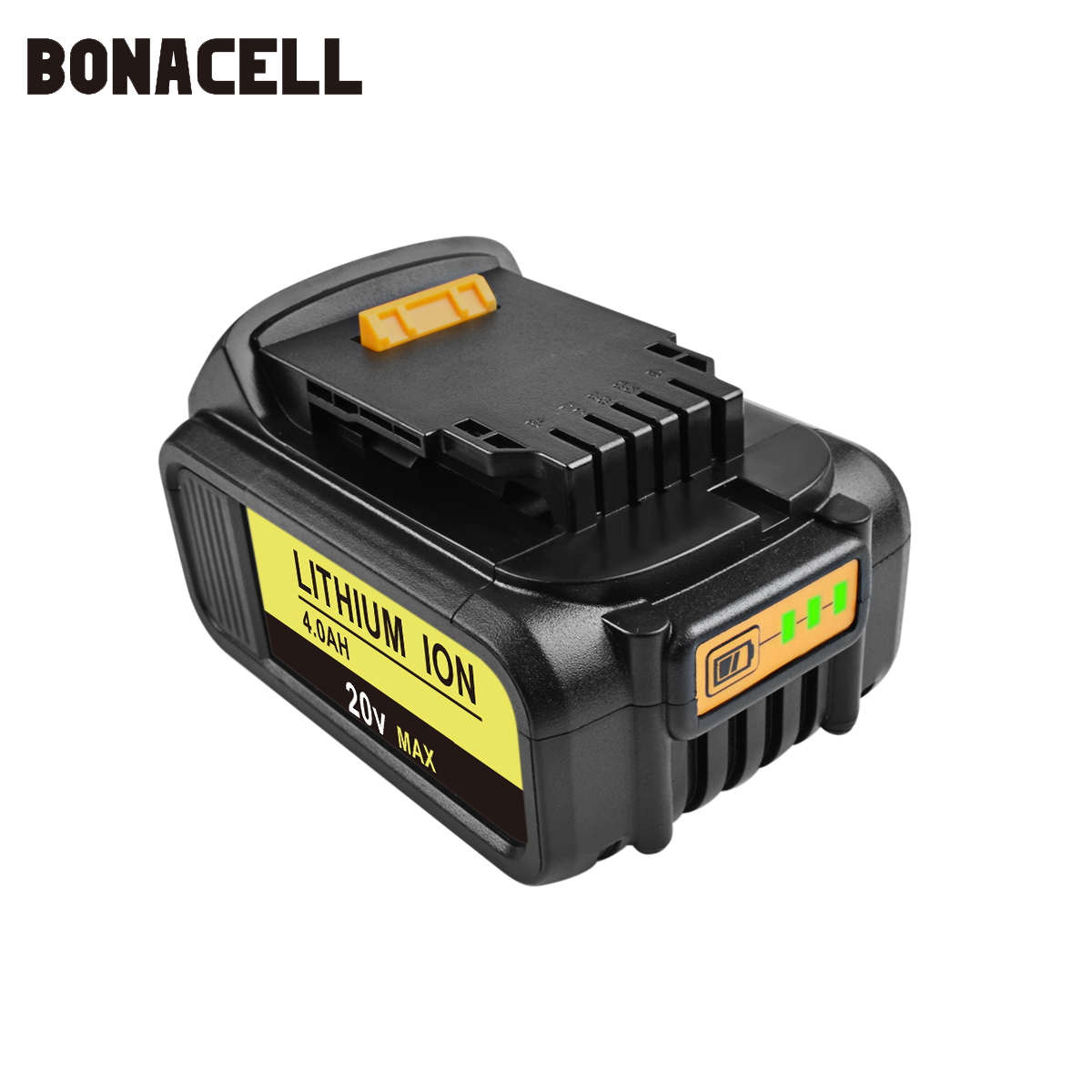 Image 2 - Bonacell Battery for Dewalt 4000mAh Replacement Battery for DCB200 DCB181 DCB182 DCB204 2  DCB201 DCB201 2 L10-in Replacement Batteries from Consumer Electronics