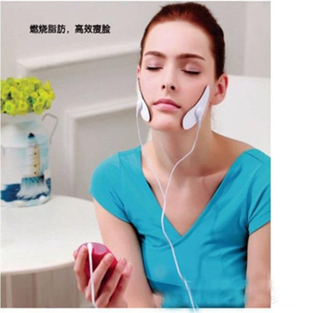 電気ミニ顔痩身パッドリフティング調節可能なシリコーン引き締めパッドポイントマッサージパッチ失う重量