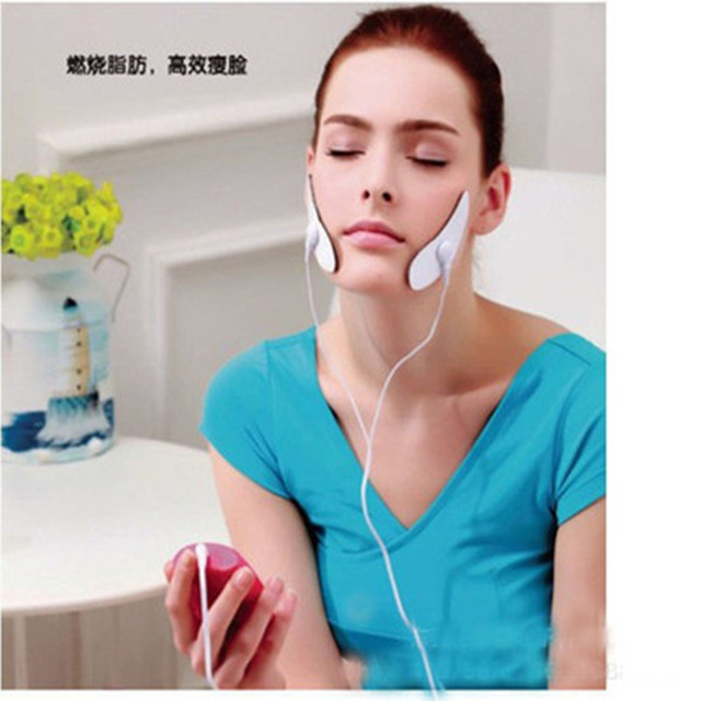 Elektryczny Mini twarzy odchudzanie Pad podnoszenia silikon regulowany ujędrniający klocki masaż punktowy Patch schudnąć