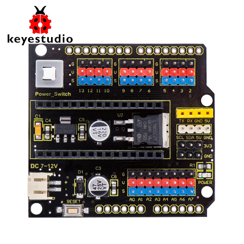Keyestudio NANO Shield Board W/ Power Switch For Arduino Nano