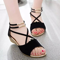 women wedge sandles fish mouth design korean style women's flat sandles vestidos