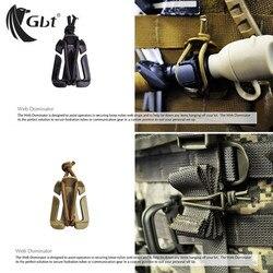 5 sztuk MOLLE Web Outdoor survival akcesoria do plecaków dominatory z elastyczną liną klamra Winder akcesoria do plecaków