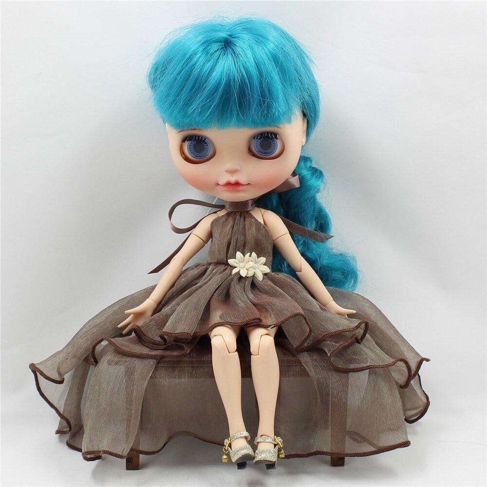 Neo Blythe Doll Chiffon Dress with Flower 9