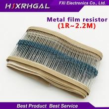 100 шт. 1/4 Вт 1R ~ 2,2 м 1% Металл пленочные резисторы серии 100R 220R 1 К 1,5 К 2,2 К 4,7 К 10 К 22 К 47 К 100 К 100 220 1K5 2K2 4K7 Ом