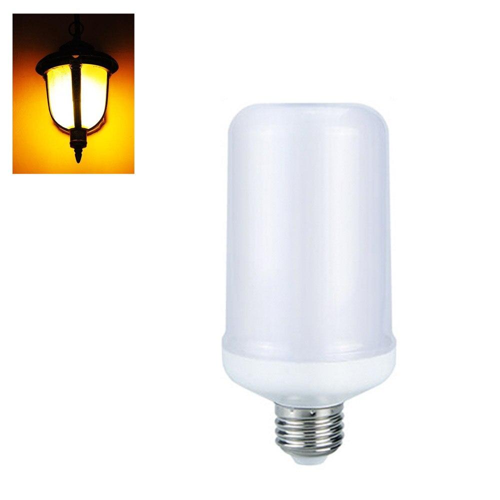 7W LED Lamp Bulb E27 Flame Dimmable LED Light Bulb Flickering Breathing General Lighting Modes 1300K AC110-240V smart bulb e27 7w led bulb energy saving lamp color changeable smart bulb led lighting for iphone android home bedroom lighitng