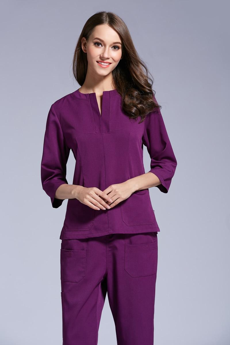 New product autumn women hospital medical scrub uniform for Spa uniform policy