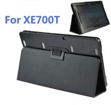 """Negro pu del tirón del cuero de lujo de la cubierta case para samsung ativ smart pc 11.6 """"xe700t1c 700t1c"""