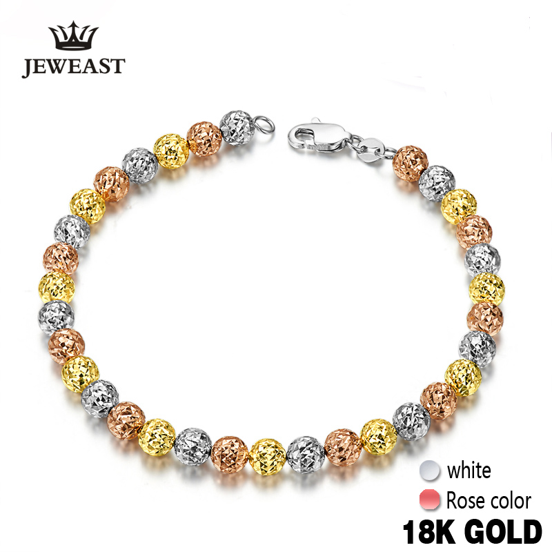 18k Gold Yellow White Rose 3colors Bracelet New Fashion And Fine Jewelry For Wedding Engagement Ceremony2017 Hot Sale Trendy 18k rose gold women stud earrings double balls fine engaged wedding jewelry fashion female delicate gift hot sale trendy party