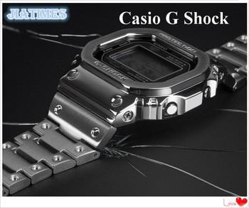شحن مجاني 1 قطعة العلامة التجارية الجديدة ساعة معدنية كاملة الحافة ل G Sh0ck GW-5000 5035 5600 G-D5000 لاستبدال ساعة