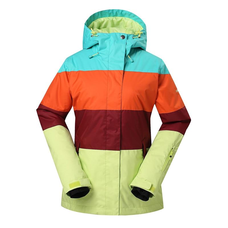 b2314f354b GSOU SNOW Brand Ski Jackets Women Winter Snow Coats Patchwork Style Ladies  Snowboard Jacket Warmth Thicken Waterproof Ski Wear-in Skiing Jackets from  Sports ...