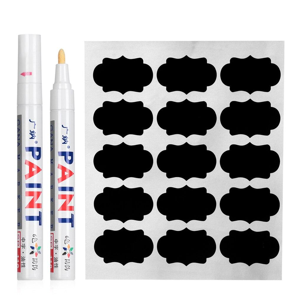 Наклейки с маркером, 90 шт./компл., водонепроницаемые наклейки для кухни, украшения в виде конфет