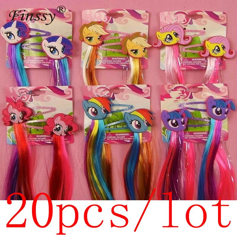 20 paar = 40 stücke Meine Kinder Mädchen Wenig Ponys Haar Clips für Mädchen Elsa Haar Zubehör Anna Clip Haar pins Headwear Clips Haarnadeln