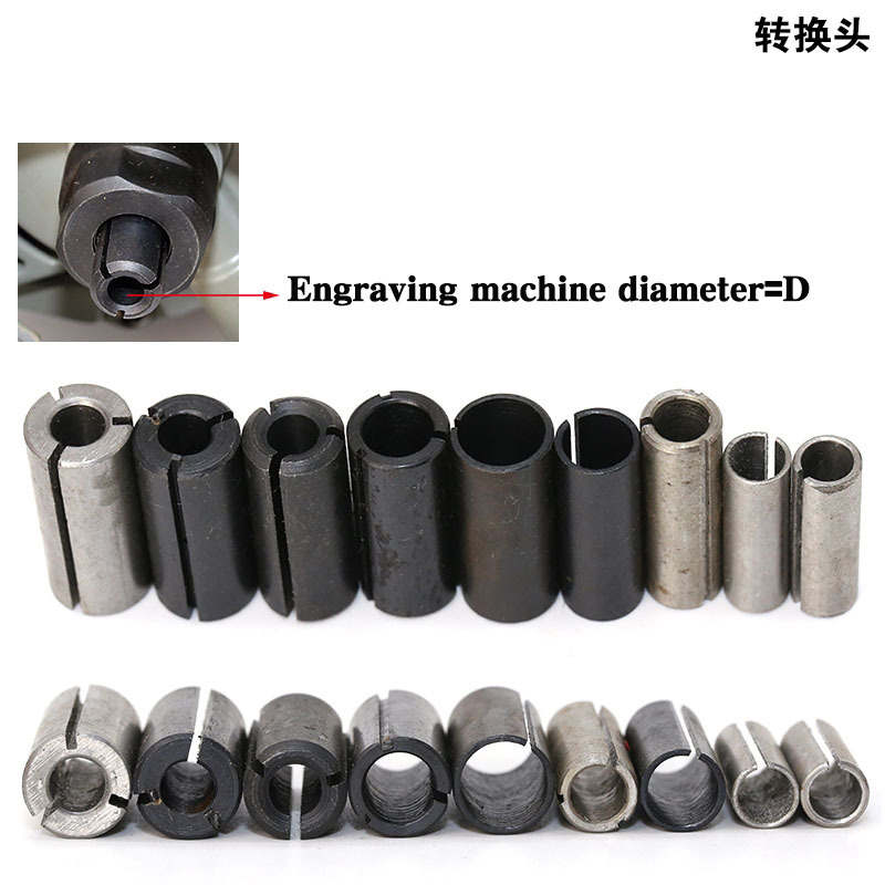 1pcs High Precision Adapter collet shank CNC router tool Adapters holder 12.7mm change to 6.35mm/ 8-6.35/ 8-6/ 12.7-8mm 6mm size 2pcs high precision power collet chuck adapter mayitr milling tool for engraving machine router tools bits cnc parts 8 6 35mm