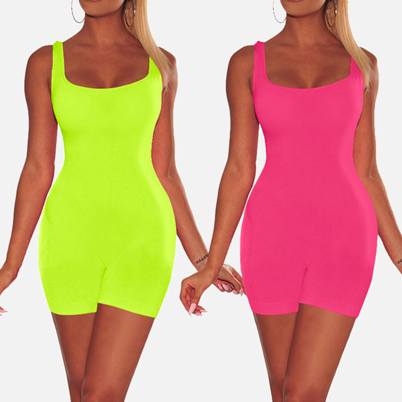 Women's Sexy Backless Bodycon Playsuit Rompers Black White Short Skinny Jumpsuits Sportswear Female Summer Solid Ladies Clothes
