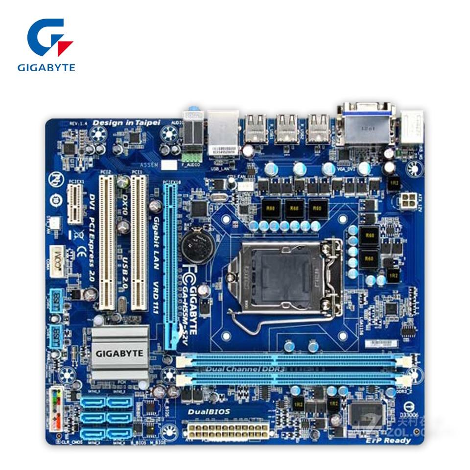 все цены на  Gigabyte GA-H55M-S2V Original Used Desktop Motherboard H55M-S2V H55 LGA 1156 i3 i5 i7 DDR3 8G SATA2 Micro-ATX  онлайн