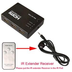 Image 3 - محول HDMI للفيديو من Robotsky مكون من 3 منافذ 1080P محول HDMI محول جهاز فصل IR عن بعد لأجهزة HDTV PS3 DVD