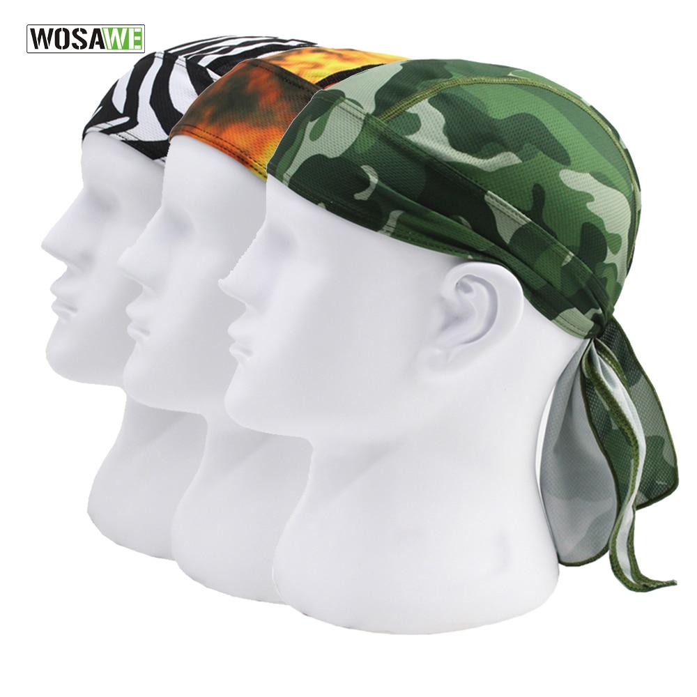 WOSAWE Quick Dry Printing Cycling Cap Summer Men Running Hiking Fishing Bandana Headscarf Ciclismo Hood Headband Skull Caps