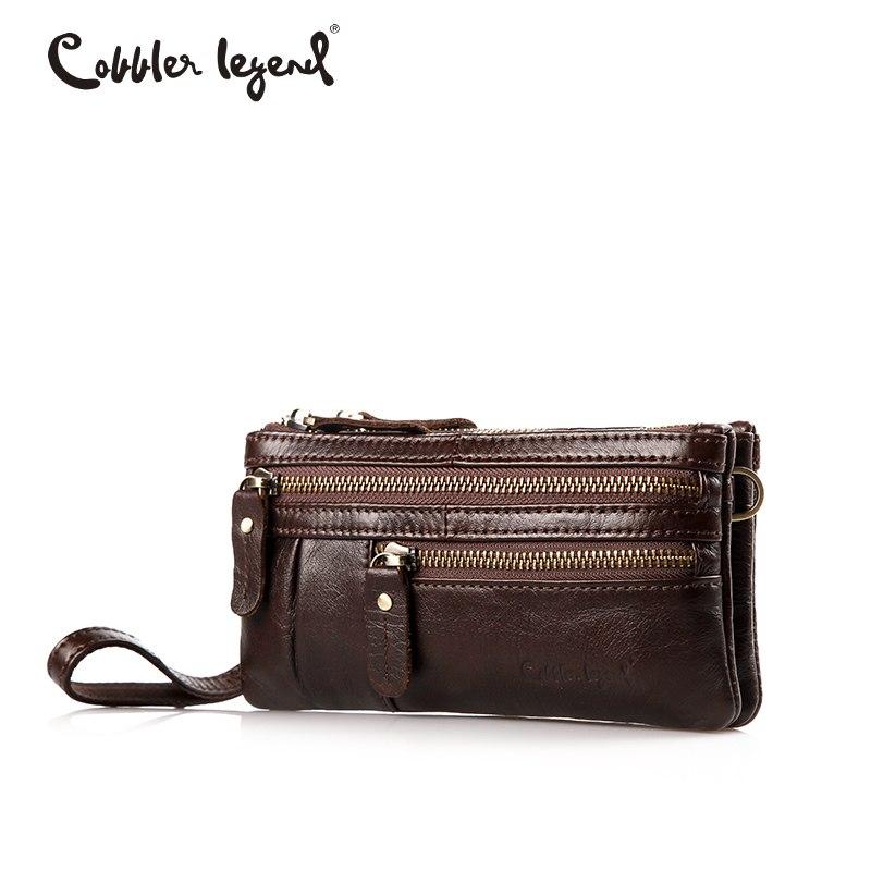 Cobbler Legend Kis valódi bőr Crossbody Messenger Bag Női márka kézitáska Multi Pocket telefon táska Wristlet tengelykapcsoló