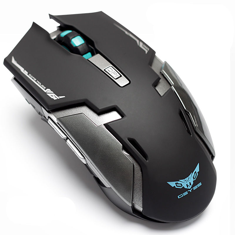 EVESKY laptop wireless gaming mouse built-in rechargeable silent mute button computer mouse unlimited