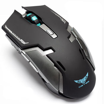 Hongsund laptop wireless gaming mouse built-in rechargeable silent mute button computer mouse unlimited เมาส์