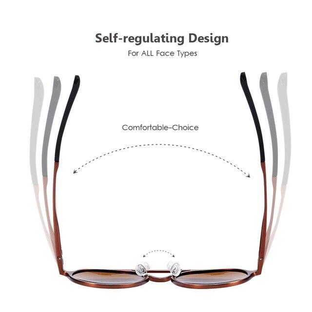 BARCUR - Retro Round Sunglasses 3