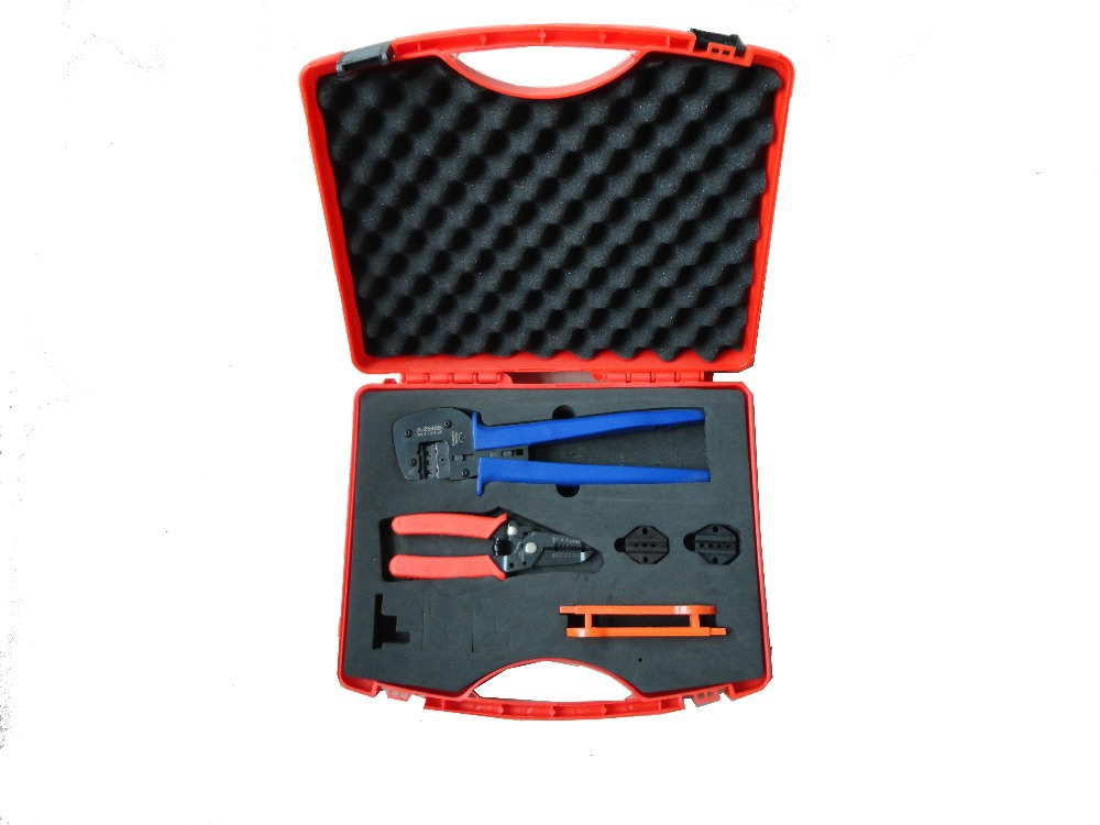 A2546-5D2 Electrician Tools set with MC3,MC4 tyco connectors MC4 solar spanner multi function cable cutter stripper tool kit