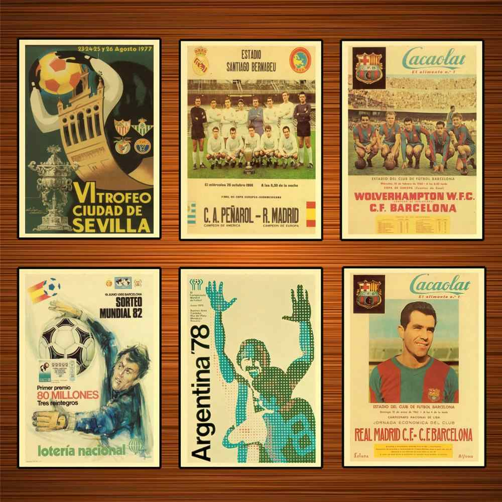 Vintage 1980s Football Soccer Sports Ads Poster 1978 Argentina Classic Canvas Paintings Wall Stickers Home Decor Gift