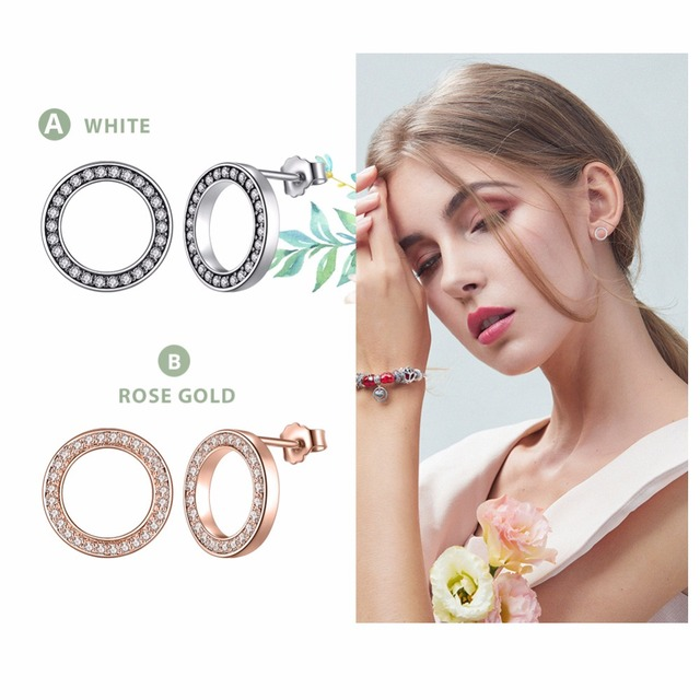 Clear Forever Circle Earrings4
