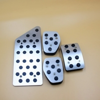 Aluminium Allo Gear Accelerator Brake Clutch Footrest Pedal Pedales Stickers Plates Pad Decoration For Peugeot 508 Citroen C5