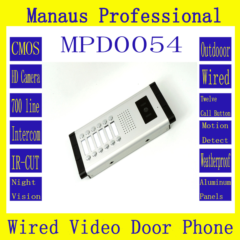Professional Multi-storey Residential Buildings With Straight-touch Intercom 12 Buttons Wired Doorphone Outdoor Monitor New D54a