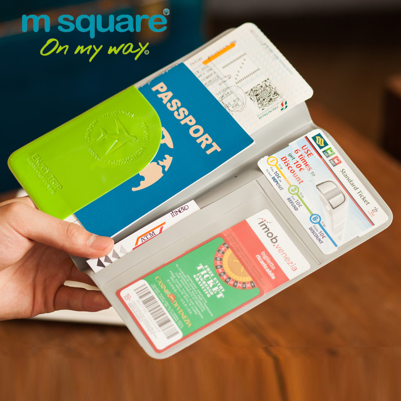 M Square Travel Passport Holder Credit Card Holder Passport Cover Documents Organizer Wallet The Cover Of
