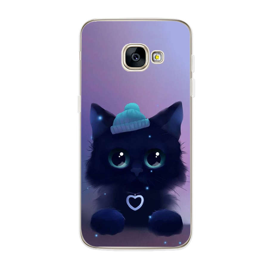 ciciber For Samsung Galaxy A5 2016 A3 A7 2017 A6S A8 Plus 2018 A8 A9 2018 PRO Soft TPU Phone Cases Cute kitten Cat Fundas Coque in Fitted Cases from Cellphones Telecommunications