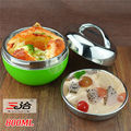 0.8 liter Double Wall Stainless Steel red or green apple food container lunch box with handle Thermos Food Container Tableware