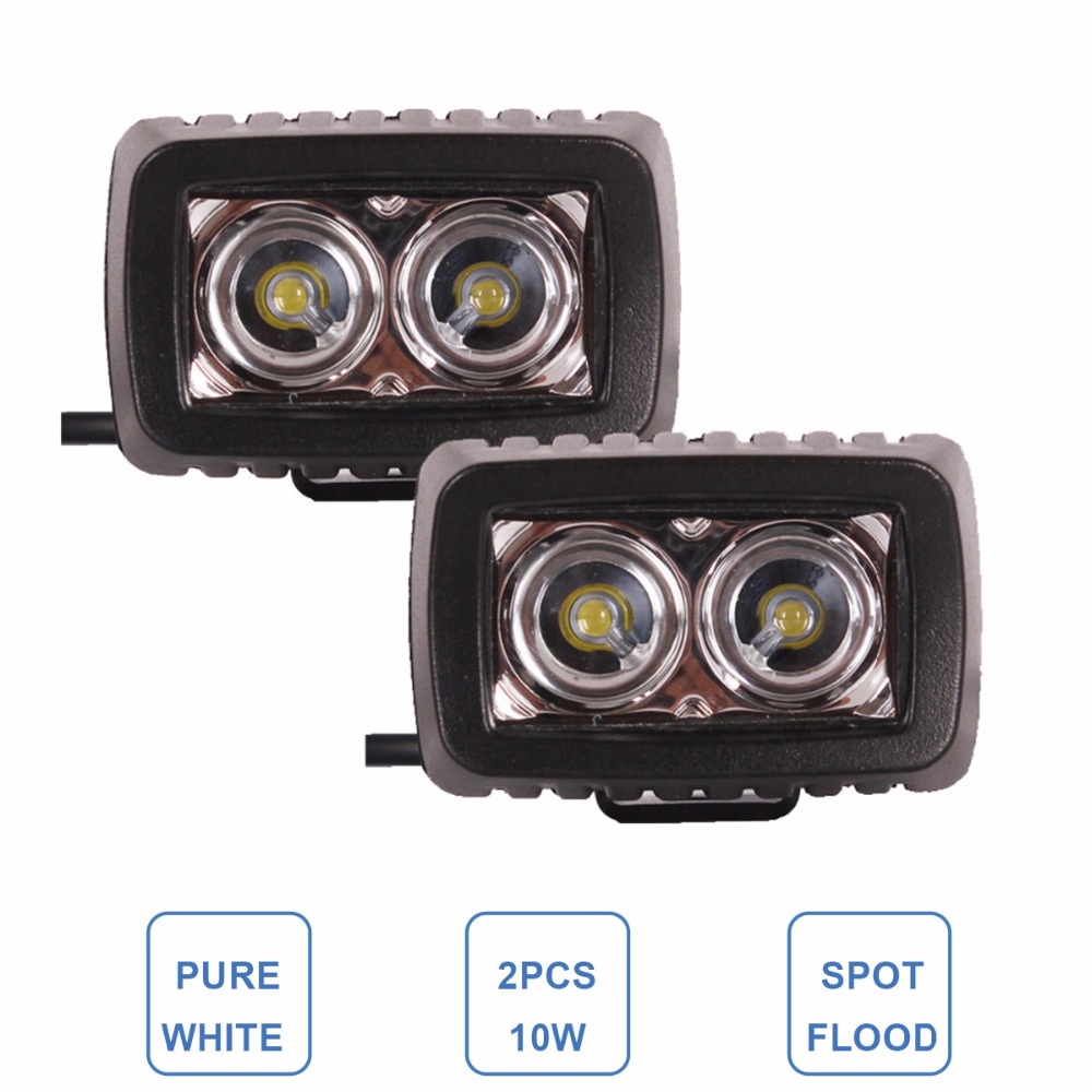 10W LED Work Light 12V 24V Car Auto SUV ATV 4WD 4X4 Offroad Driving Worklight Lamp Spot Flood Motorcycle Boat UTV Fog Headlight