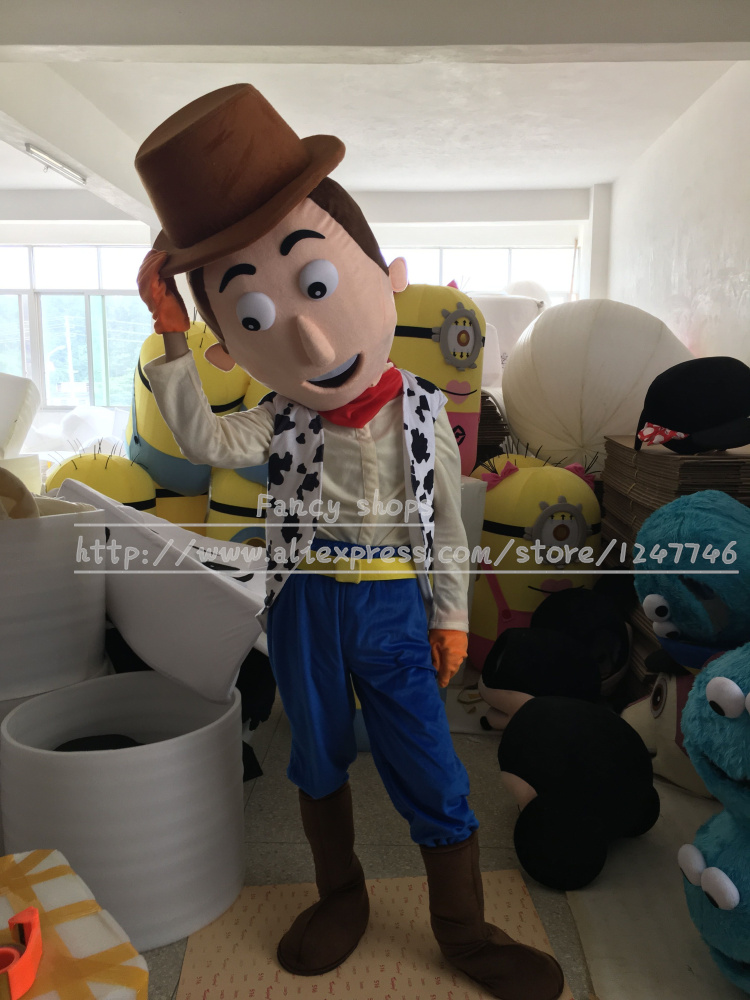 High Quality Cartoon Mascot Costume Cow Boy Mascot Costumes Woody Costume For Party