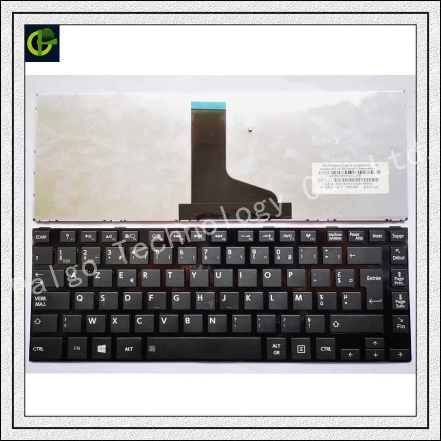 French Azerty Keyboard for <font><b>TOSHIBA</b></font> <font><b>L800</b></font> L800D L805 L830 L835 L840 L845 P840 P845 C800 C840 C845 M800 M805 M840 laptop FR image
